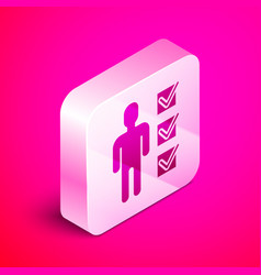 Isometric user man in business suit icon vector