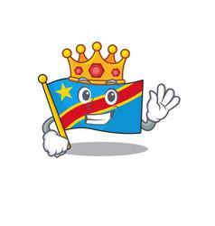 King indonesian flag democratic republic on vector