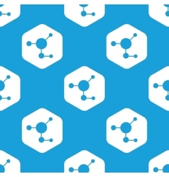Molecule hexagon pattern vector image