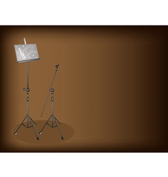Music Microphone Stand Background vector image