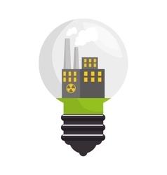 Nuclear energy isolated icon vector