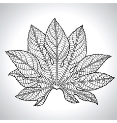 Of Black Leaf vector image