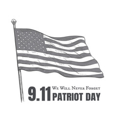 patriot day usa never forget 911 poster vector image