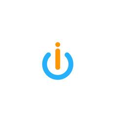 Power letter i logo icon design vector