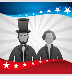 Presidents day celebration poster with lincoln vector