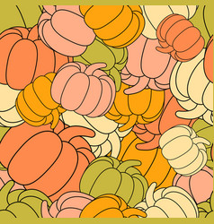 pumpkins seamless pattern thanksgiving festive vector image