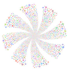 Refund fireworks swirl rotation vector