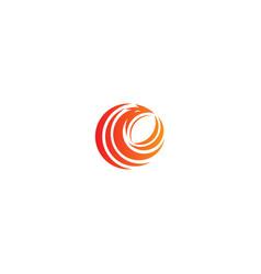 round phoenix bird logo vector image