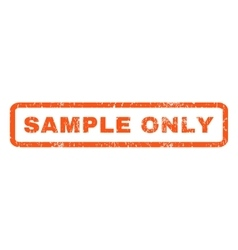 Sample Only Rubber Stamp vector image