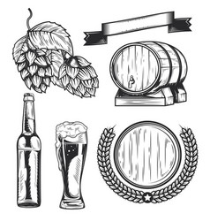 set beers elements badges logos label vector image