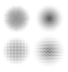 set halftone design elements abstract vector image