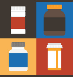 set of medicine vector image vector image