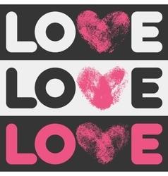 Simple flat LOVE design vector image