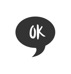 speech bubble with short message icon vector image