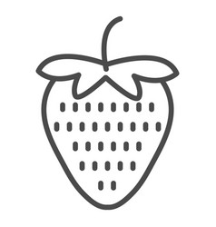strawberry icon line art icon for apps and vector image