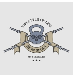 The weight of the skull emblem vector image