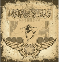 urban label with grunge vector image