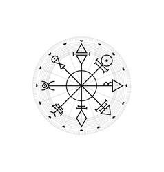 Vegvisir compass mystical venus sacred amulet vector