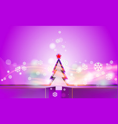 Violet merry christmas vintage background with vector