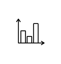web line icon business graph black on white vector image