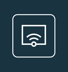 Wifi outline symbol premium quality isolated vector