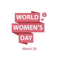 World womens day template design vector