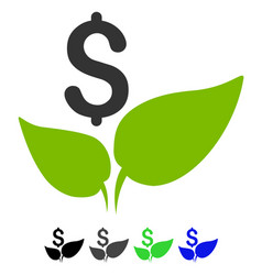 Eco startup flat icon vector