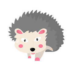 hedgehog animal isolated on white flat vector image
