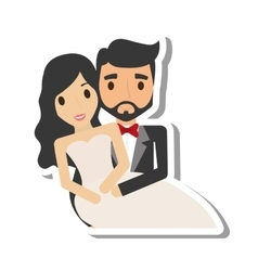 Just married couple character vector