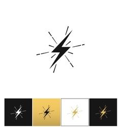 Lightning thunderbolt sign or strike electric bolt vector image vector image