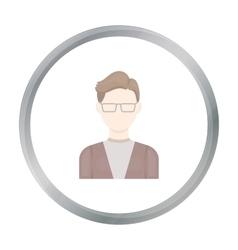 Man with glasses icon cartoon Single avatar vector image