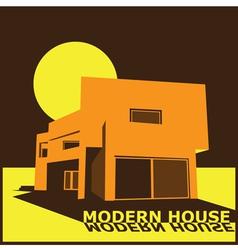 modern house vector image
