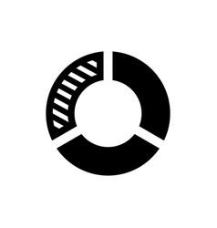 pie chart icon infographic symbol vector image