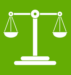 scales balance icon green vector image