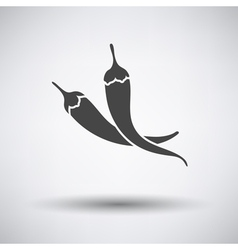 Chili pepper icon on gray background vector image