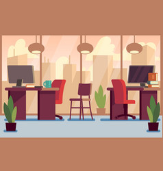 corporate business office stylish modern interior vector image vector image
