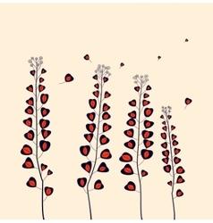 Field flowers vector image vector image