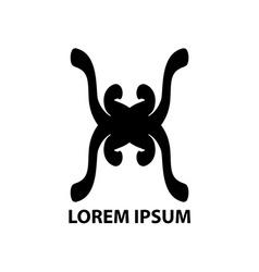Hand drawn company logo symbol icon vector image