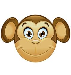 monkey emoticon vector image vector image
