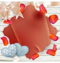 Paper and colorful flowers Petals EPS 10 vector image vector image