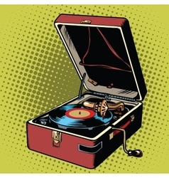 Phonograph vinyl record player vector image