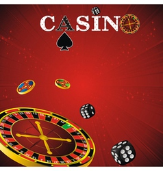 roulette casino red vector image vector image