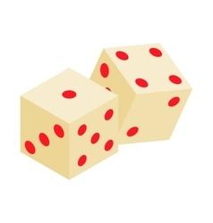White dice isometric 3d icon vector image