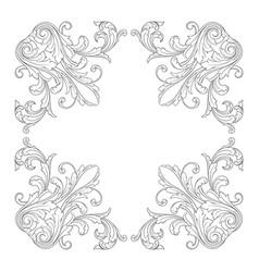 Baroque ornament decoration element vector