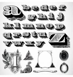decorative font vector image