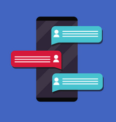 mobile phone messaging flat vector image vector image