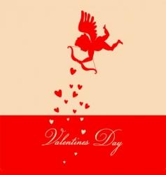 Retro valentine's background vector