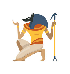 anubis an ancient egyptian god symbol of vector image