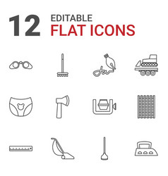 12 tool icons vector