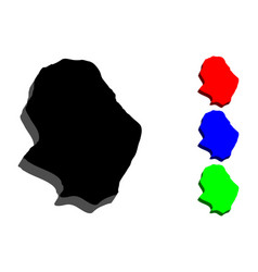 3d map of niue vector image